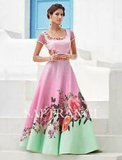 Indian Stylish Designer Bollywood Pink Party Gown Anarkali Salwar Suit Women