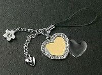 Photo Jewelry Heart Cell Phone Charm For Mobile Phone