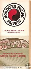 Railroad Timetable - Northern Pacific Railway - 28/05/61 Vista-Dome North Coast