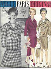 1961 Vintage VOGUE Sewing Pattern B32 SKIRT JACKET BLOUSE (1494R) Christian Dior
