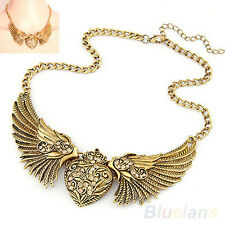 SHINING RHINESTONE ANGEL WINGS COLLAR CHAIN NEW WOMEN DRESSES NECKLACE B59K