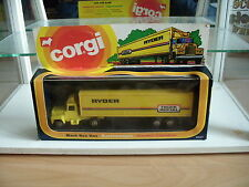"Corgi Mack Truck Van Box ""Ryder Truck Rental"" in Yellow in Box"