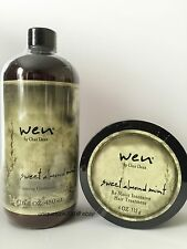 Wen Chaz Dean Sweet Almond Mint Cleansing Condition 16 oz. & Re Moist 4 oz. New