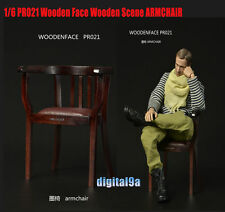 """1/6 Scale Wooden Armchair Sofa Chair Model DIY Scenery Accessories F 12"""" Figure"""