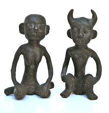 Due Ritualfiguren,Fusione in bronzo oscurati,probabilmente Africa,altezza: 10 cm