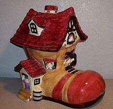 """Old Women in a Shoe Cookie Jar   LARGE11.5""""x10""""x8.5""""  WAY NICE"""