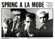 """2/11/85pg2 Black & White Picture 4x7"""" Depeche Mode"""