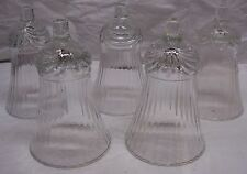 HOME INTERIORS / HOMCO VOTIVE CUPS - 5 HARD TO FIND CLEAR RENAISSANCE CUPS