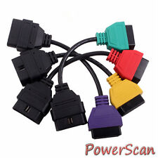 Fiat ECU Scan Diagnostic Cable Fiat Four Color Adaptors Interface Connector OBD