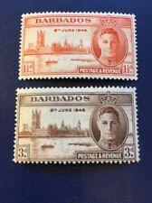 Barbados 1946 KGVI Victory Omnibus Set  MM