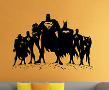 Superman Wall Decal Vinyl Sticker Comics Superhero Atr Home Wall Decor (009s)