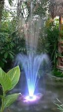 LED Color Changing Pool Pond Floating Fountain Hundreds of LED 2 spray nozzles