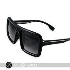 Black Old School Block Square Retro Kid Sunglasses DJ Child Children K003