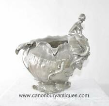 WMF Art Nouveau Silver Bronze Champagne Bucket Urn Mermaid Conch