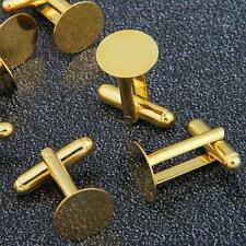 10 Gold Tone Cufflinks Cuff Link Backs Blanks 0.71x0.47""