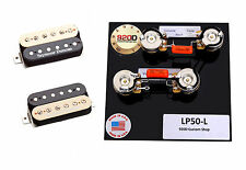 Duncan SH-4/SH-2n Hot Rodded Humbucker Pickup Set, Zebra+Les Paul Wiring Harness