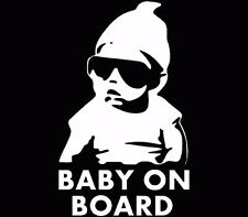 Baby on Board vinyl decal/sticker funny truck car window laptop Hangover White
