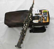 Professioanl TaiShan Antique Soprano Saxophone Straight Bb Sax High F# With Case