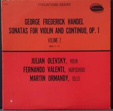 WESTMINSTER W-9065 HANDEL SONATA FOR VIOLIN & CONTINUO OLEVSKY VALENTI ORMANDY