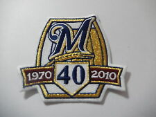 "MILWAUKEE BREWERS ""40TH ANNIVERSARY""  Game Jersey PATCH New"