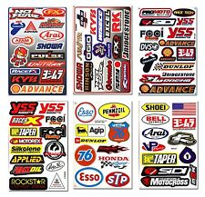 6 Sheets Rockstar Energy Stickers Metal Mulisha Sponsor Logo Motorcycle Bike