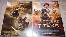 LE CHOC DES TITANS / LA COLERE DES TITANS  ! affiche cinema