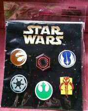 Disney Pins 2016 Star Wars Emblem Booster Pack 6 NEW RELEASE  FREE SHIPPING