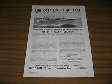 1950 Print Ad Beetle Boat BB-24 Ft Cabin Cruisers New Bedford,MA