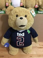Ted 2 Ted in Jersey 24-Inch R-Rated Talking Teddy Bear Ship From CA, USA