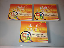 Plain & Simple Microsoft Office 2007 = 3 Books - (Excel/Word/OfficeSystem)