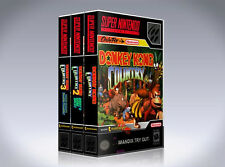 NEW custom game storage cases DONKEY KONG COUNTRY 1,2,3  SNES -No Games- TRILOGY