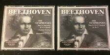 "BEETHOVEN- 6 CDs 2Box Sets ""The Symphonies"" Vol. #1 & #2, Nos. 1•2•3•4•5•6•7•8•9"