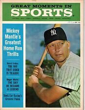 1962 (July) Great Moments in Sports, Baseball magazine, Mickey Mantle NY Yankees