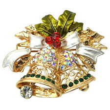 Christmas Brooch Pin Xmas Bell gifts CP