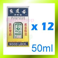 Wong To Yick WOOD LOCK Medicated Balm Oil Pain Relief Relief Woodlock Aches x 12