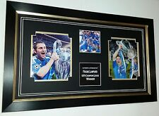 * Rare Frank Lampard of Chelsea Signed photo Autograph Display *CHAMPIONS LEAGUE