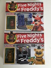 FIVE NIGHTS AT FREDDY'S THE OFFICE & PIRATE COVE McFARLANE CONSTRUCTION SETS NEW