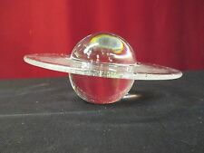 STEUBEN CRYSTAL SATURN PLANET WEIGHT