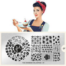 Moyou London Stamping Schablonen Plate Keks Cake Muffin Cook Book #07