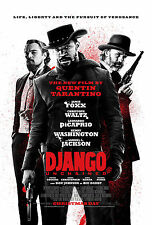 "Django Unchained (2012) Movie Poster New 24""x36"" Foxx Tarantino DiCaprio"
