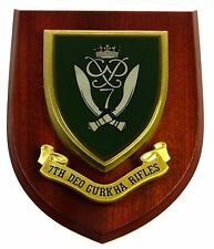 7TH DOE GURKHA RIFLES REGIMENT CLASSIC HAND MADE IN UK REGIMENTAL MESS PLAQUE
