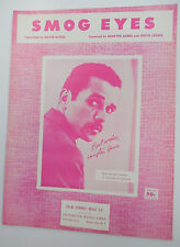 HAMPTON HAWES Sheet Music SMOG EYES Criterion Publ. 1959 50's 60's POP Vocal