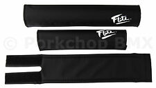 FLITE old school BMX foam padset pads - BLACK W/ WHITE 80's LOGO *MADE IN USA*