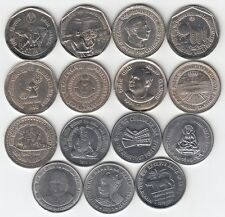 COMMEMORATIVE COINS REPUBLIC IND (LOT OF 15 - 1/- COINS FROM 1987 TO 2010)