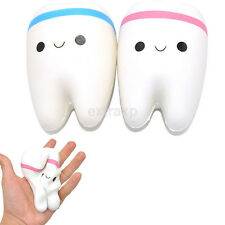 New 11cm Kawaii Tooth Jumbo Squishy Slow Rising Phone Straps for Phone/Mp3/Bag