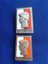 Poland Exemplary Soldier Badge wz.73 - 2 szt. - Wzorowy Żołnierz Odznaka wz.73