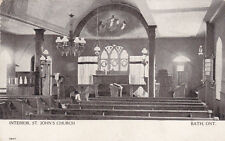 BATH , Ontario, Canada, 00-10s ; St John's Church Interior