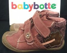 Girls Leather Shoes Boots UK Size 7 EU 24 Babybotte Dark Pink New Free Post