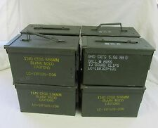 8 Pack 50 Cal Ammo Can Box  Army Military M2A1 Metal Storage 5.56