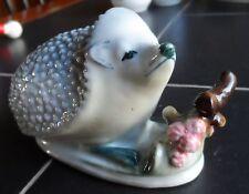 Vintage Hungarian Zsolnay Porcelain Hedgehog Figurine